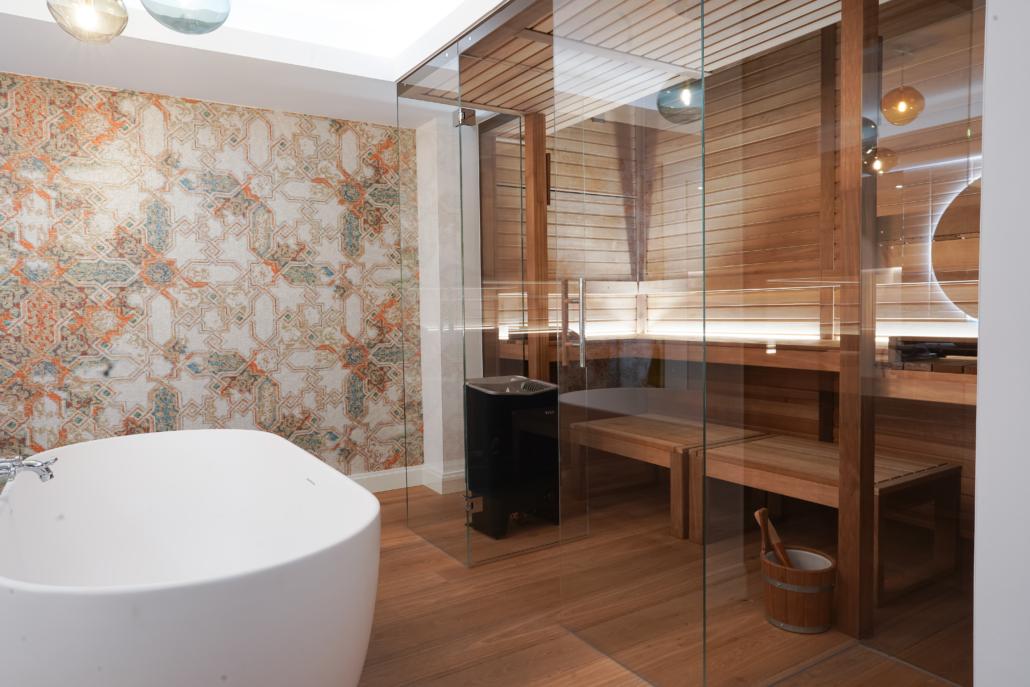Bild Sauna mit Glasfront modern 2