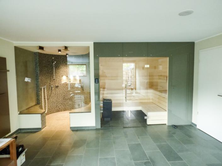 Sauna inkl Dusche grau